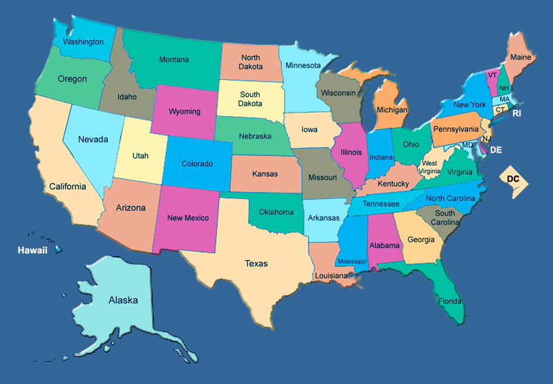 Map Of The Lower 48 States Gallery Diagram Writing